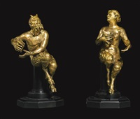 satyr and satyress (2 works) by german school-southern (19)