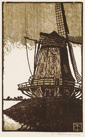 windmühle i by carl theodor thiemann