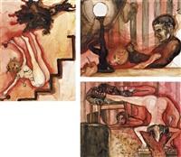 (i) the nuns; (ii) fallen from grace; (iii) i want you to feel my rage (3 works) by rita ackermann