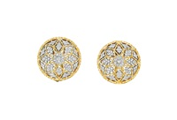 diamond earclips (pair) by buccellati