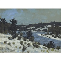 winter landscape by bruno joseph bobak