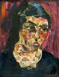 porträt annemarie, die gattin des künstlers (+ oil studies, verso) by joachim heuer