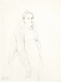 portrait of the artist's wife, née madeleine chapelle by jean-auguste-dominique ingres