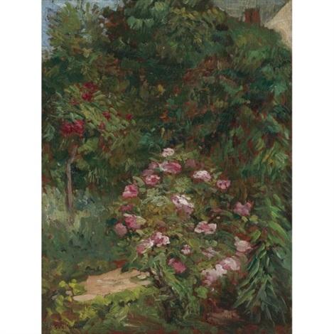 massif de fleurs jardin du petit gennevilliers by gustave caillebotte