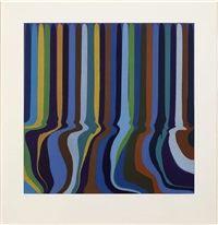 royal blue etching by ian davenport