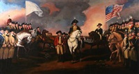 the surrender of lord cornwallis at yorktown, va by john trumbull