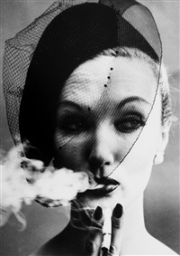 smoke + veil, paris (vogue) by william klein