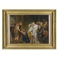 alexander the great showing mercy to the family of darius by andries cornelis lens