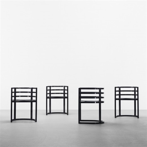 armchairs set of 8 model 810a by richard meier