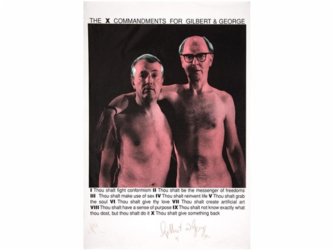 10 mandamientos de gilbert & george by gilbert & george