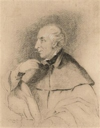 portrait of william wordsworth (+ sketch, ink, verso) by benjamin robert haydon