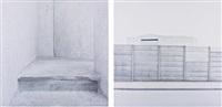 two works: (i) brussels 2; (ii) bussels 6 by friederike von rauch