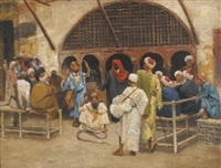 the snake charmers (study) by ludwig deutsch