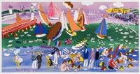 baie de saint adresse & anemones (+ 1 other work) (2 works) by raoul dufy