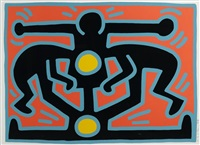 growing series i-v (5 works) by keith haring