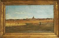 vue d'un village by abel boulineau