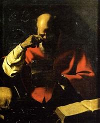 saint jérôme lisant une lettre by georges de latour