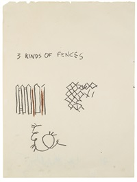 three kinds of fences by jean-michel basquiat