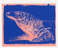 komodo monitor (from vanishing animals) by andy warhol