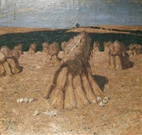 haystacks by wilhelm herberholz
