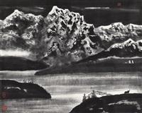 湖山 (lake and mountain) by li xiaoke