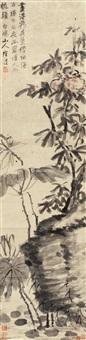 花卉 立轴 水墨纸本 by xu wei