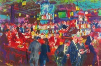 harry's wall street bar by leroy neiman