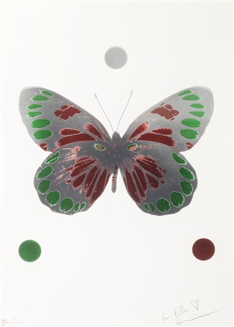 science xmas butterfly print by damien hirst
