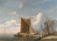 by the harbour by bartol wilhelm van laar