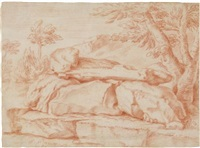 felsen (study) by carl borromaus andreas ruthart