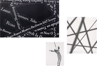 leica group (headlines #7 (negative); (ii) trapeze #3; (iii) abstract (fuzzy diagonals #3) (3 works) by karl haendel