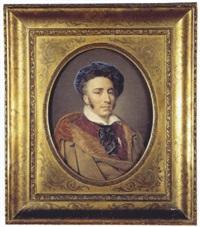 portrait d'homme au béret by henri-joseph hesse