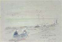 spiaggia con monache by gianni vagnetti