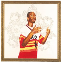 passing/posing (infinity mobility) by kehinde wiley