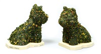 puppy (hecho a mano) (set of 2) by jeff koons