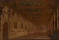 perspectives dans une église italienne by wilhelm schubert van ehrenberg