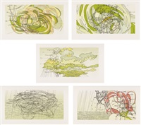 sea state i-v (set of 5 works) by matthew ritchie
