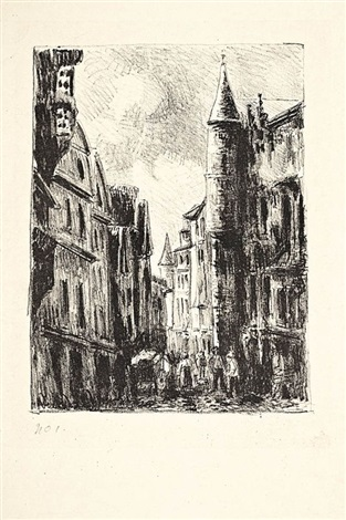 rue saint romain à rouen pl4 by camille pissarro