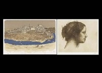 landscape of spain (set of 6) and woman, time passes (portfolio of 8)(14 works) by masayoshi aigasa