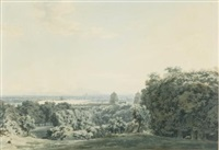 london and the thames from greenwich by john robert cozens