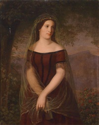 portrait of a young woman with veil by anonymous (19)