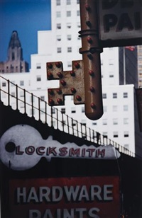 locksmith's sign, new york, n.y by ernst haas