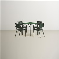 game table suite (set of 5) by jacques adnet