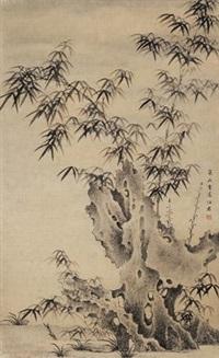 竹石 by ma shijun