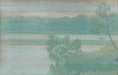 paysage lacustre by jean francis auburtin