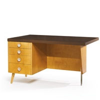 desk from the mildred and grant beckstrand house, palos verdes, california by richard neutra