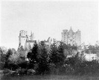le château de pierrefonds avant sa restauration by alphonse jeanrenaud