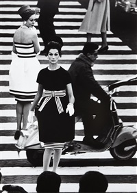 piazza di spagna, simone + nina, rome (vogue) by william klein