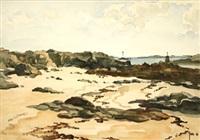 plage au bord de l'estuaire by robert yan