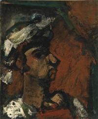 femme au chapeau blanc by georges rouault